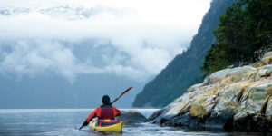 seakayak the fjords of Norway, kayak and hiking in the fjords of Norway